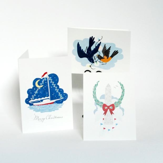 city holiday cards