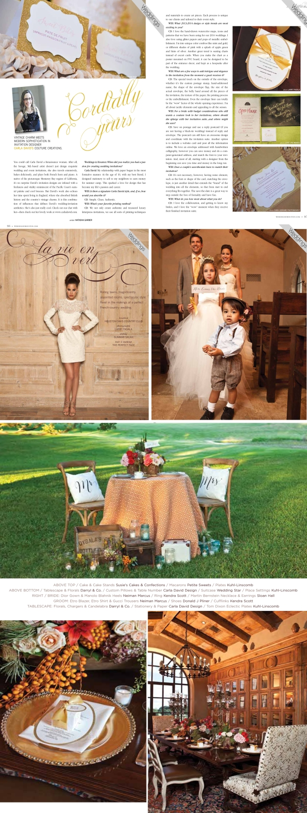 weddings in houston magazine collage